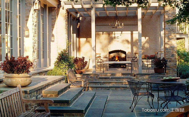 美式入户花园效果图,享受最惬意的生活