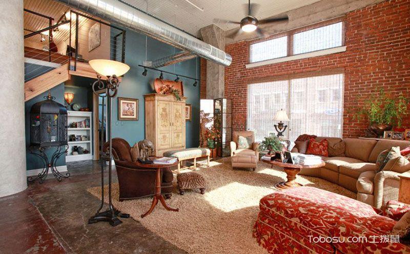 跃层客厅装修效果图,每一寸空间都雅致