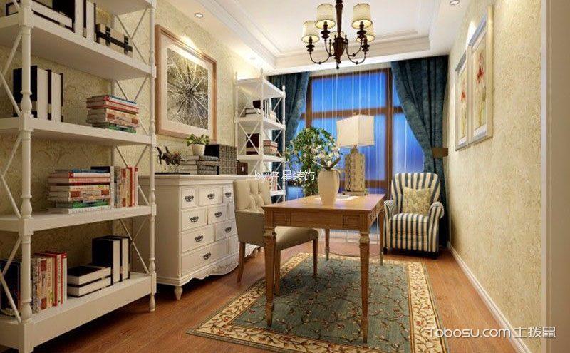 简欧书房装修效果图,简洁中的大气高雅