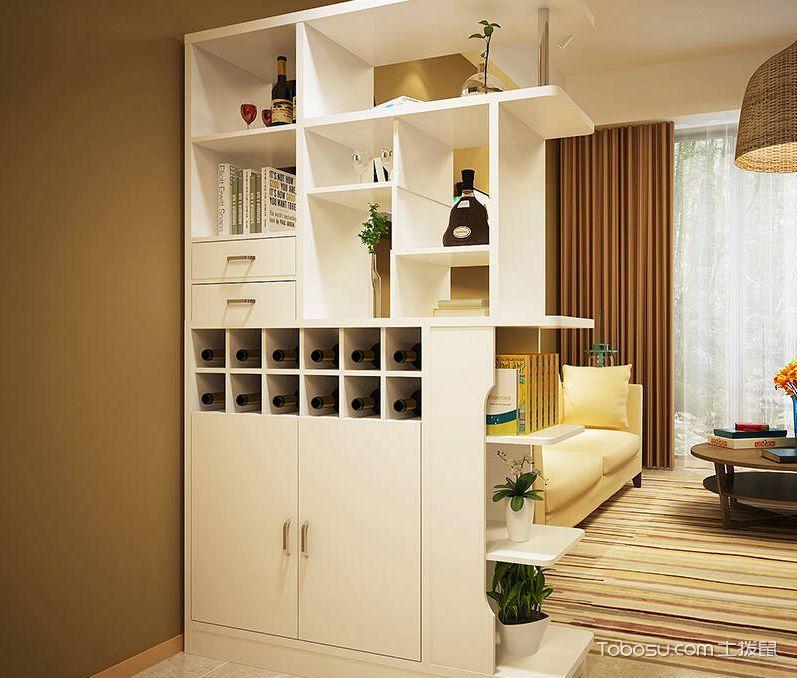 客厅玄关酒柜隔断效果图,一举两得的精彩设计