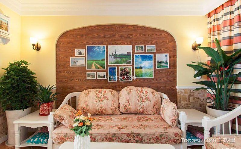 两室一厅欧式装修效果图,贵族之家吹进田园风