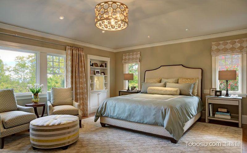 美式地中海风格卧室效果图,要安逸也要浪漫