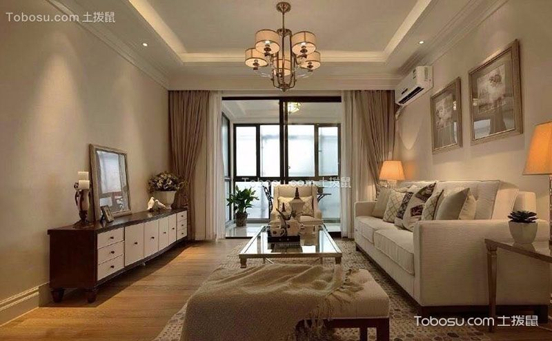 美式客厅装修效果图,舒适惬意中的浪漫感