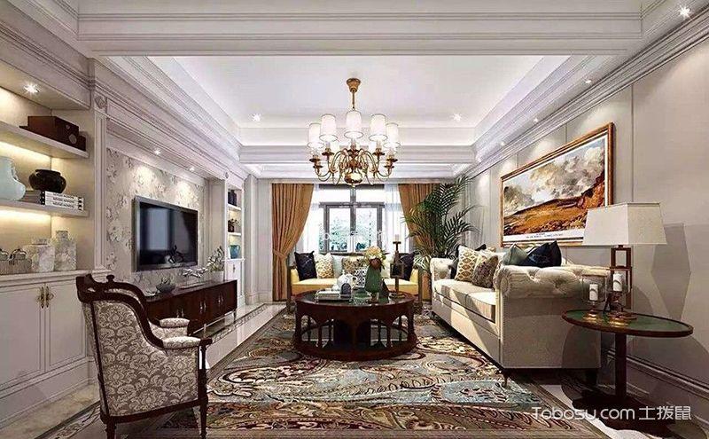 欧式复式客厅效果图,媲美别墅的精致空间