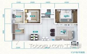 二居室户型图效果
