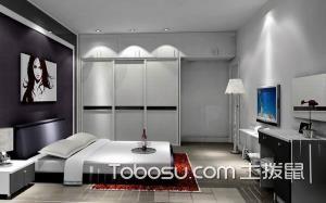 现代风格卧室摆放装修效果图