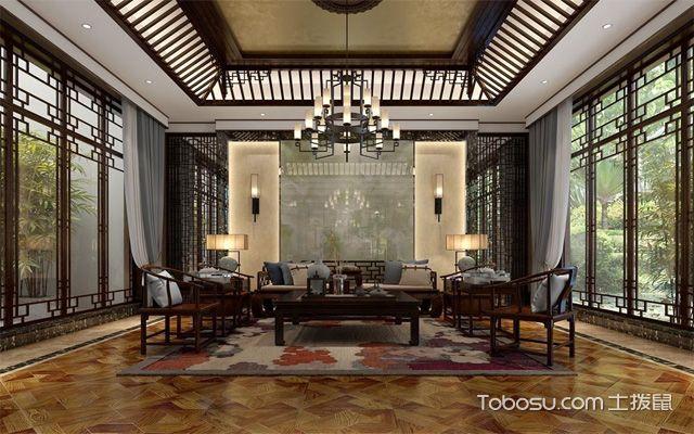 中式古典风格别墅客厅
