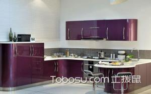 【紫色橱柜】紫色橱柜好看吗,紫色橱柜如何选购,效果图