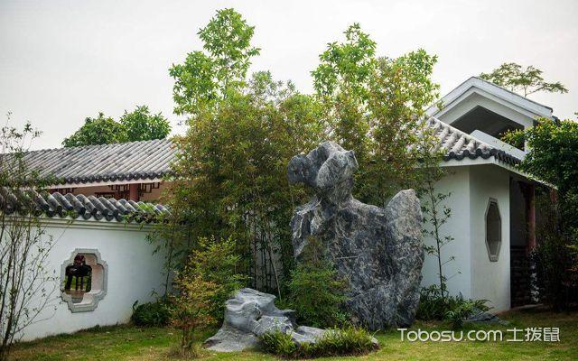 中式庭院景观 走廊