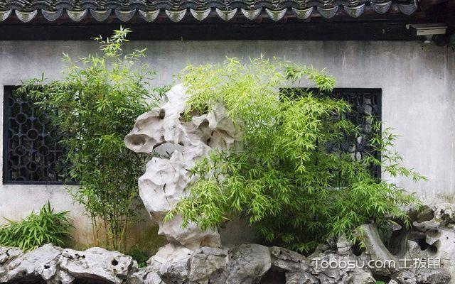 中式庭院景观 假山