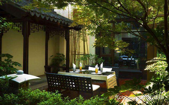 中式庭院景观 休息区