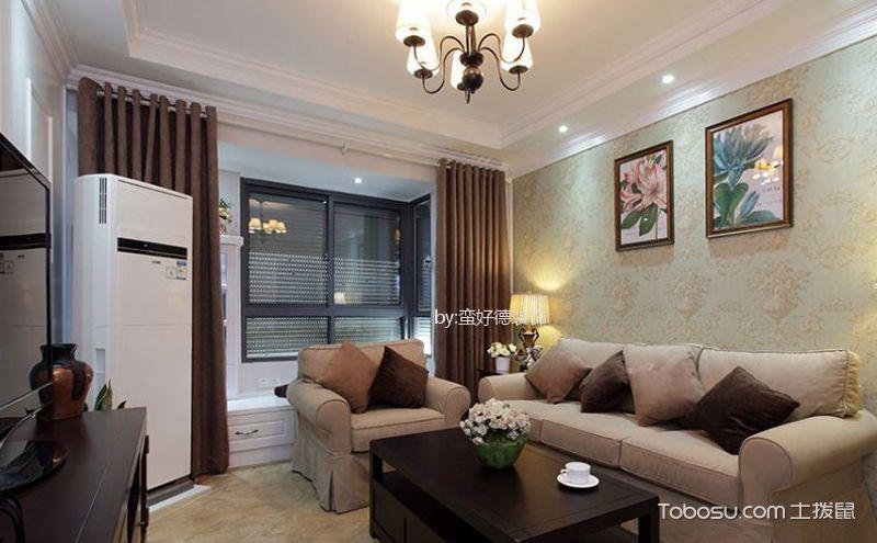 小两居户型设计效果图,简单中彰显华贵舒适