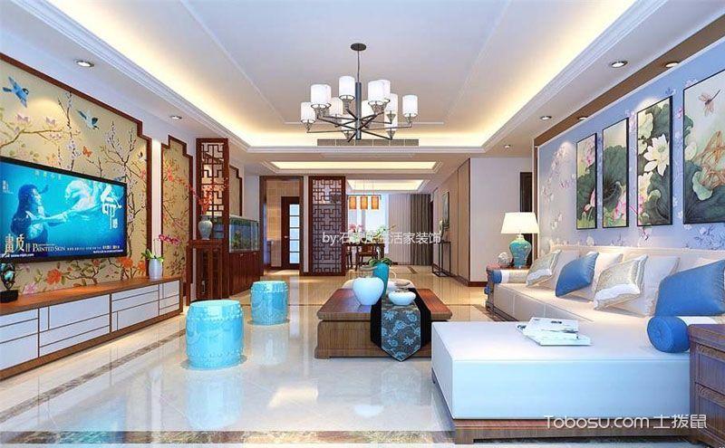 客厅地板与墙面设计方案,巧用七色板