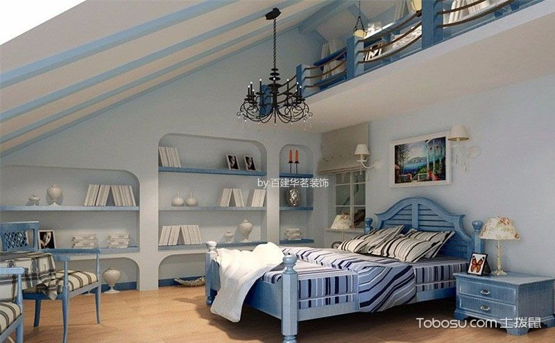 阁楼卧室装饰实景图,美到不愿出门
