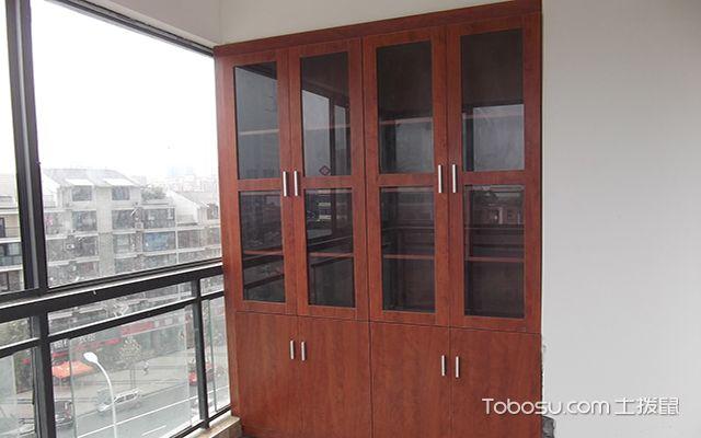 阳台储物装饰隔断柜设计 阳台特殊杂物柜子定做图片