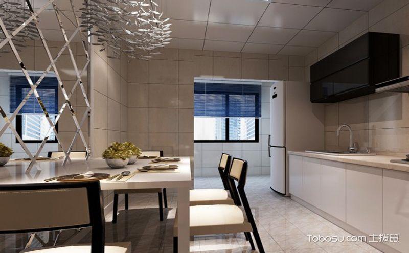 小厨房现代风格装修效果图,让空间换个花样
