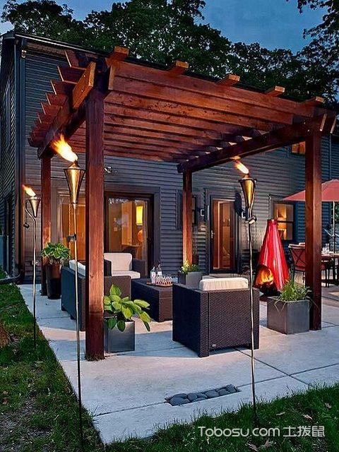 户外庭院设计效果图,户外庭院设计注意事项图片