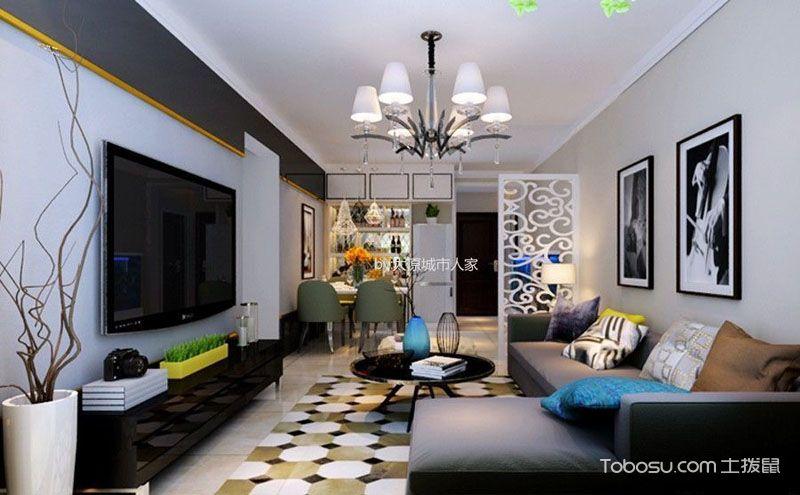 100平方室内装潢效果图,简单中的细节美