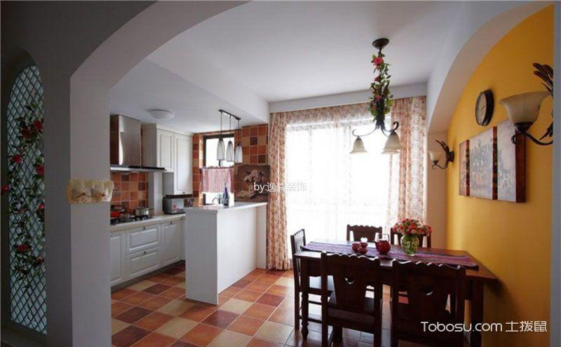 100平方小三室装修样板房,爱上浪漫田园风