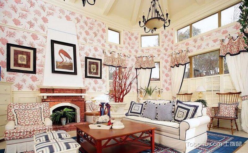 客厅壁纸装修效果图,要好看更要温馨舒适