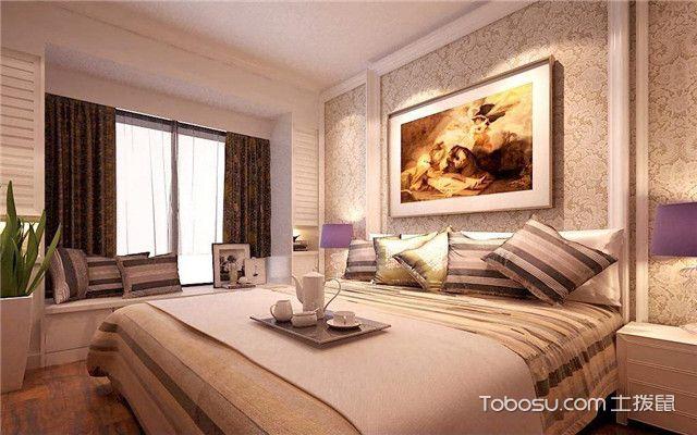 卧室说床头壁纸