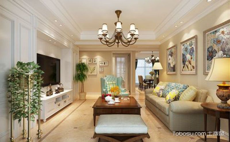 130平米家居装修设计效果图案例