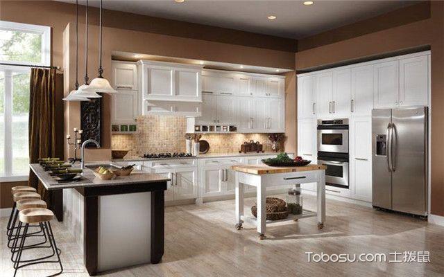 简欧厨房效果图,2018最新厨房装修设计!图片