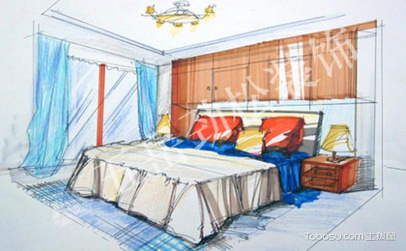 卧室手绘效果图 ,直观表达心中所想