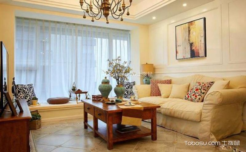 客厅简美风格装修效果图 ,浪漫生活的体现