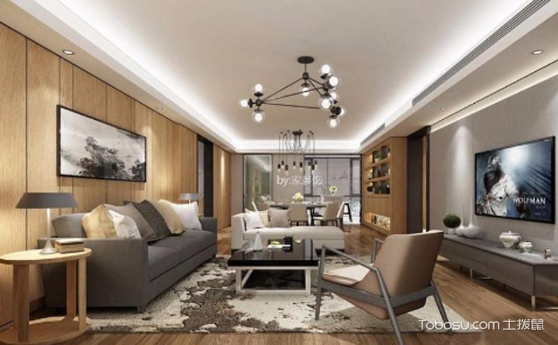 客厅沙发背景墙效果图 ,增添自然感与温馨感