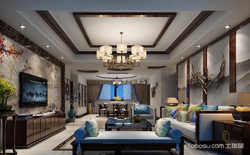 客厅天花吊顶效果图 , 多种样式任你选