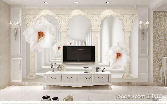 电视背景墙装修效果图大全2018,总有一款适合你家的客厅