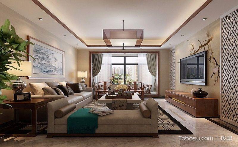 8款现代中式客厅装修设计,优雅又端庄图片