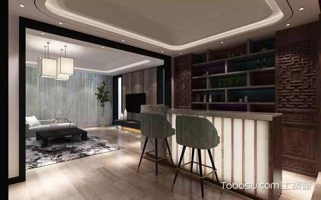 新中式风格北京别墅装修设计效果图