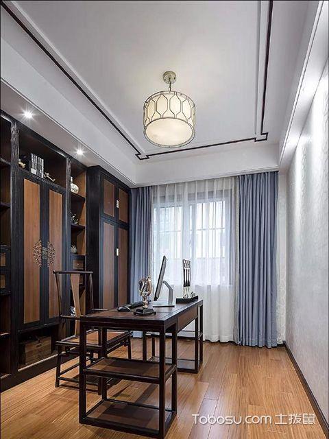 中式书房窗帘布置图