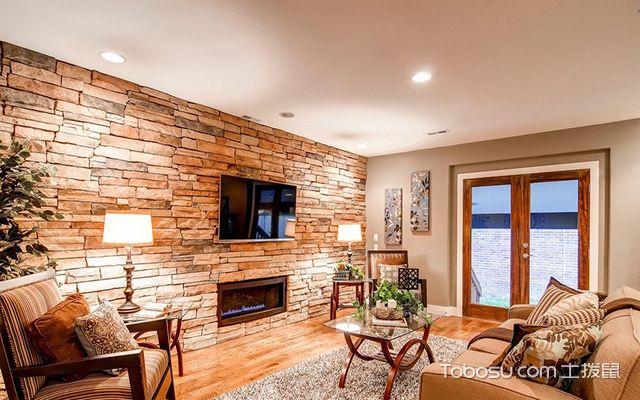砖块电视背景墙