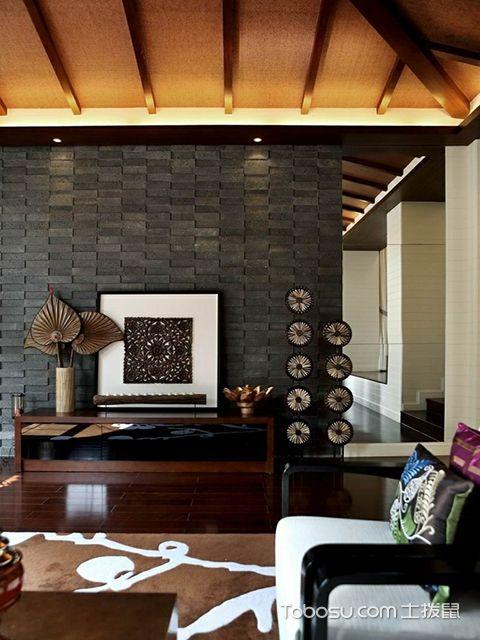 砖块电视背景墙设计效果图