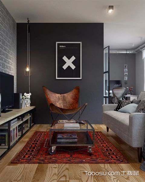 轻工业风格设计客厅效果图