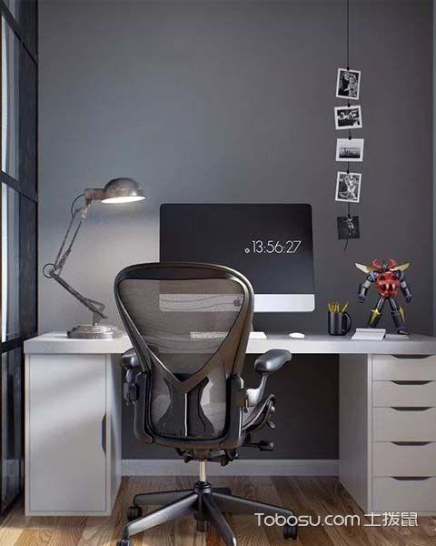 轻工业风格设计之书房效果图