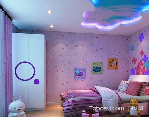 女孩儿童房设计之紫色儿童房