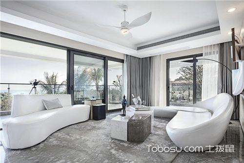 简约风格客厅设计说明-纯白客厅