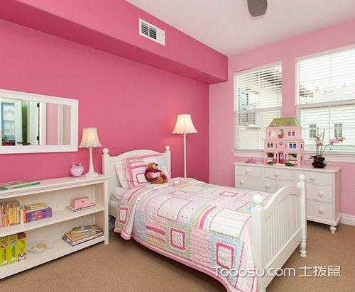 女孩儿童房设计之粉色儿童房
