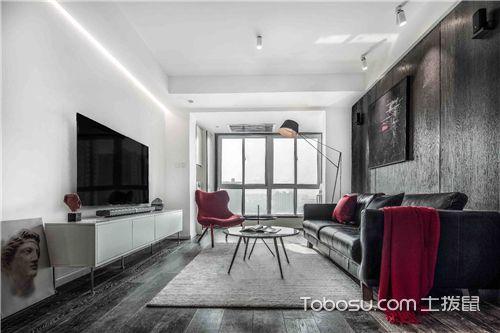 简约风格客厅设计说明-黑与白的对比