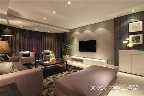客厅电视机背景墙之乳胶漆