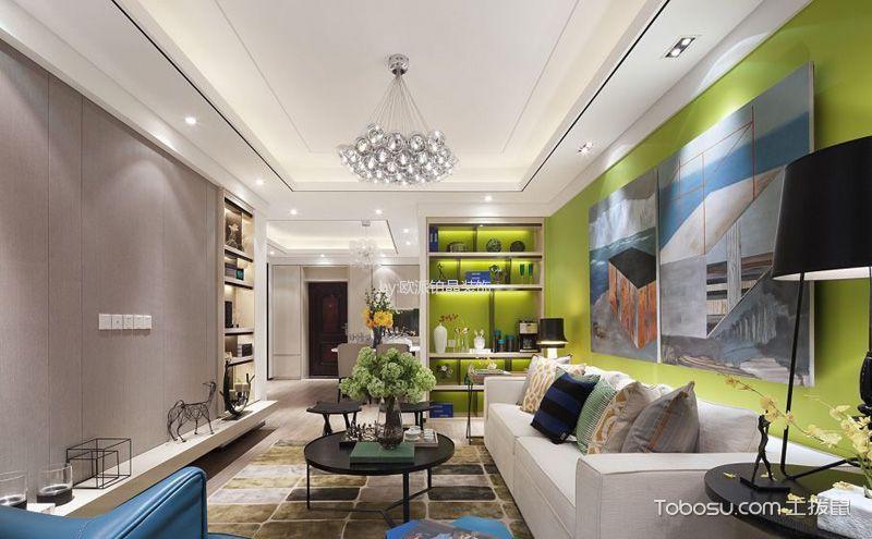现代简约客厅吊顶设计图,打造时尚之家