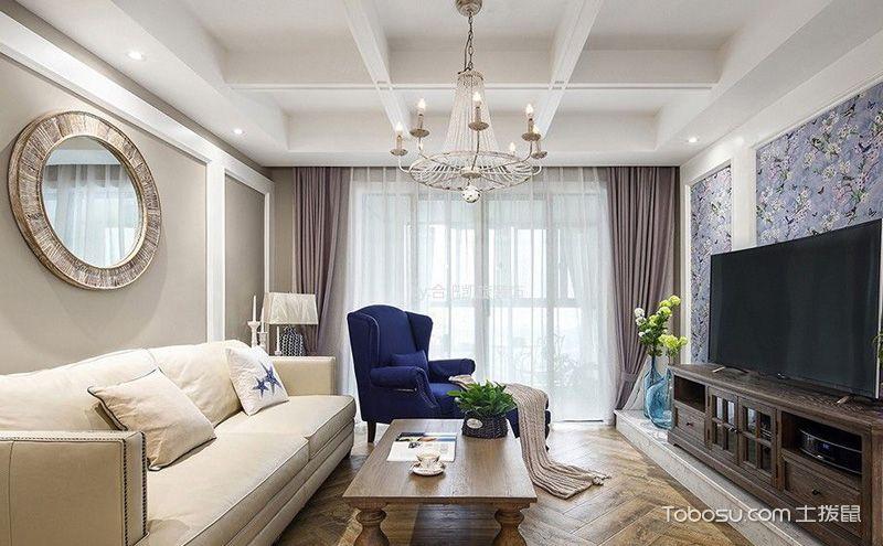 现代简约客厅吊顶效果图,简单中充满着无限变化