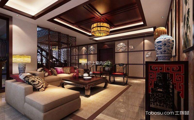 中式复式楼装修效果图,每个房间都唯美