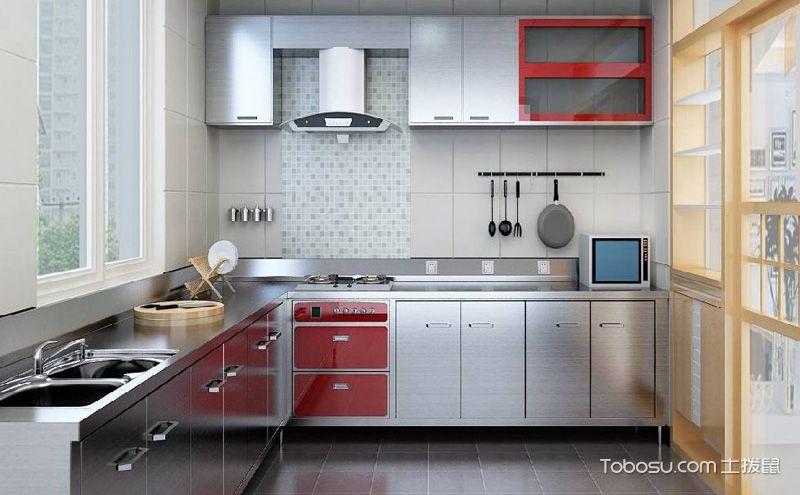不锈钢橱柜设计实景图,非同一般的质感