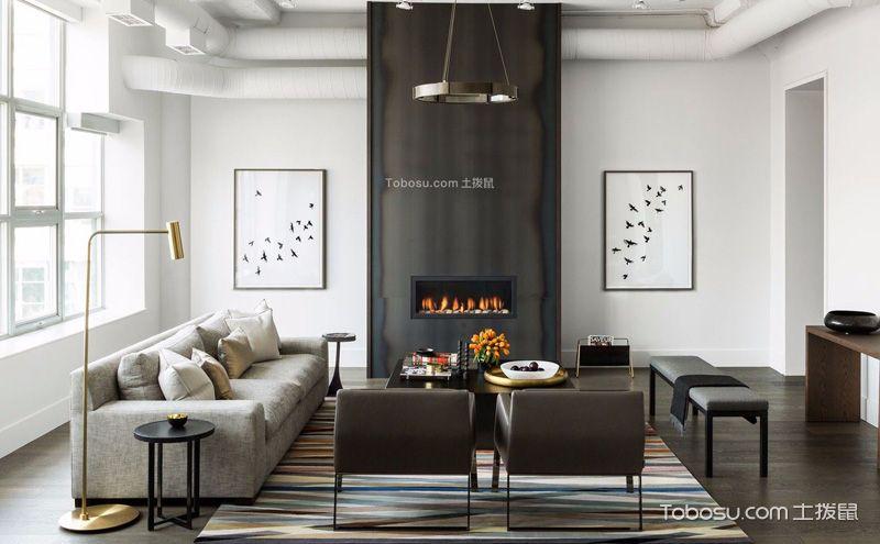黑白客厅装饰设计图片,简单之中彰显个性