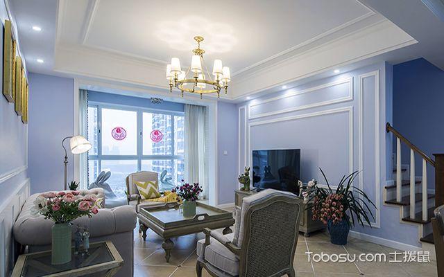 石膏线电视背景墙效果图之浪漫典雅的法式风图片